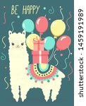 happy birthday greeting card... | Shutterstock .eps vector #1459191989