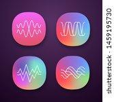 sound waves app icons set....