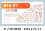 beauty services web banner ...