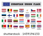european union flags  twenty... | Shutterstock .eps vector #1459196153