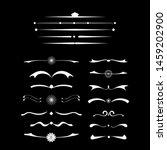 vector calligraphic design set. ... | Shutterstock .eps vector #1459202900