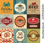 set of vintage retro labels for ... | Shutterstock .eps vector #145920344