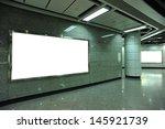 blank billboard in subway...   Shutterstock . vector #145921739