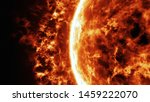 Sun Surface With Solar Flares   ...