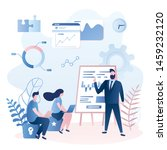 corporate coaching or training... | Shutterstock .eps vector #1459232120