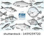 fish sketch collection. hand... | Shutterstock .eps vector #1459259720
