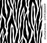 Seamless Pattern Of Black Line...