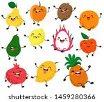 Cute And Funny Fruit Character...