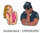 multiracial couple  african... | Shutterstock .eps vector #1459281053