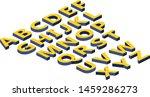 alphabet isometry volume... | Shutterstock .eps vector #1459286273