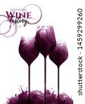 illustration of three glasses... | Shutterstock .eps vector #1459299260