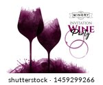 illustration of two wine... | Shutterstock .eps vector #1459299266