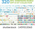 320 epic wireframe mobile app... | Shutterstock .eps vector #1459313363