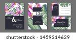 botanical wedding invitation... | Shutterstock .eps vector #1459314629
