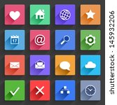 vector application  web icons... | Shutterstock .eps vector #145932206