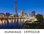 brisbane city and brisbane river   Shutterstock . vector #145932218