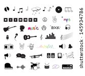 music icons | Shutterstock .eps vector #145934786