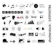 music icons | Shutterstock .eps vector #145934786