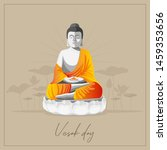 vector background for vesak day   Shutterstock .eps vector #1459353656