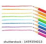 colored pencils and strokes.... | Shutterstock .eps vector #1459354013