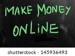 make money online   Shutterstock . vector #145936493