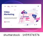 landing page template of video...