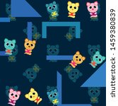 cute kitty cat vector...   Shutterstock .eps vector #1459380839