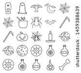 the halloween set of icons  ... | Shutterstock .eps vector #1459388639
