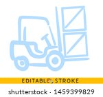 forklift icon. blue color line... | Shutterstock .eps vector #1459399829