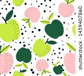 Apple Fruit Seamless Pattern ...