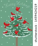 greeting card with birds red... | Shutterstock .eps vector #1459424219