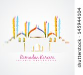 colorful islamic festival... | Shutterstock .eps vector #145944104