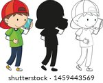 a set of characters in color ... | Shutterstock .eps vector #1459443569