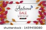 special offer autumn. and sales ... | Shutterstock .eps vector #1459458080