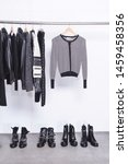 fashion black different...   Shutterstock . vector #1459458356