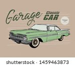 classic car  vintage style.... | Shutterstock .eps vector #1459463873
