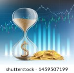 hourglass with dollar currency...   Shutterstock .eps vector #1459507199