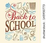 back to school | Shutterstock .eps vector #145950773