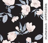 seamless floral pattern with... | Shutterstock .eps vector #1459510346