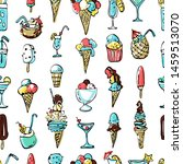 seamless pattern of summer cold ...
