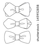 bow tie set | Shutterstock .eps vector #145952858