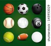 sports balls set | Shutterstock .eps vector #145953029