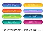 set of modern  gradient buttons ...