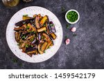 hot spicy stew eggplant in... | Shutterstock . vector #1459542179