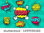 collection of cartoon  comic... | Shutterstock .eps vector #1459550183