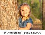 a cute blonde little girl... | Shutterstock . vector #1459556909