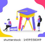illustration of stationery and...