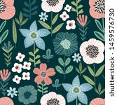 floral abstract seamless...   Shutterstock .eps vector #1459576730