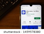 Small photo of Ivanovsk, Russia - July 07, 2019: Office Delve - for Office 365 app on the display of smartphone or tablet