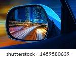 closeup rearview mirror car at... | Shutterstock . vector #1459580639